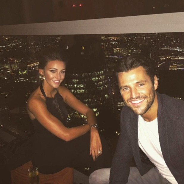 Michelle Keegan and husband Mark Wright enjoy date night, 18 September 2015.