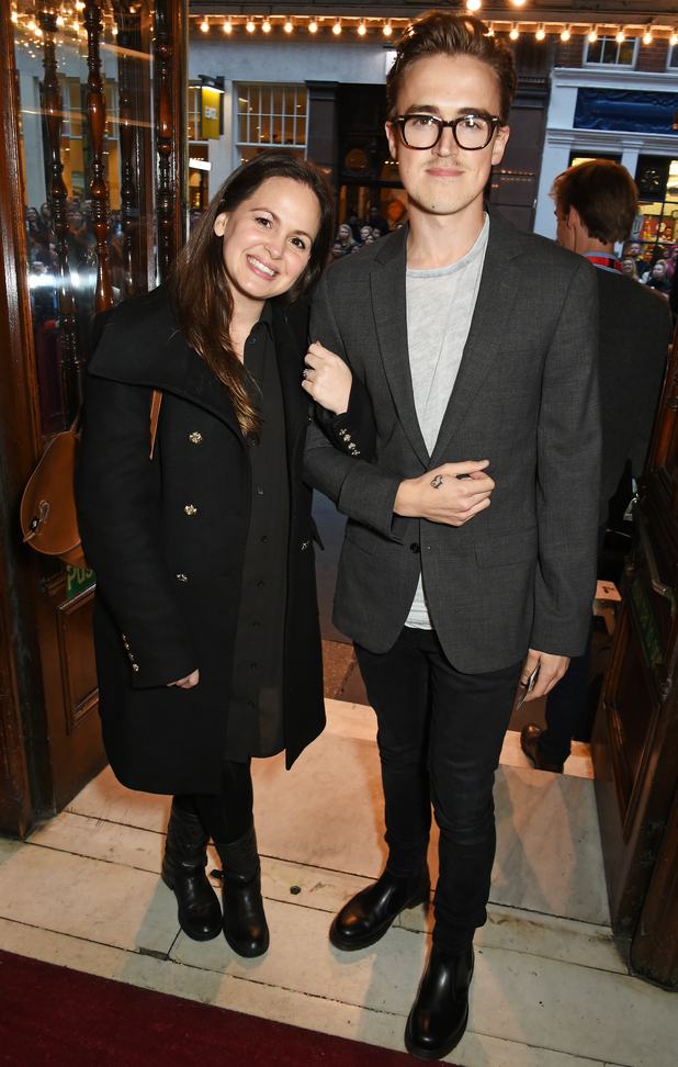 Tom Fletcher and wife Giovanna attends the press night performance of 'Photograph 51' at the Noel Coward Theatre, London 14 September