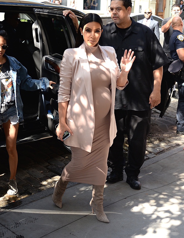 Kim Kardashian in NYC on September 14, 2015 in New York City. (Photo by Ray Tamarra/GC Images)