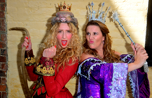 Sam Bailey and Melanie Masson, Dick Whittington Panto launch at the Aylesbury Waterside Theatre 14th Sept 2015