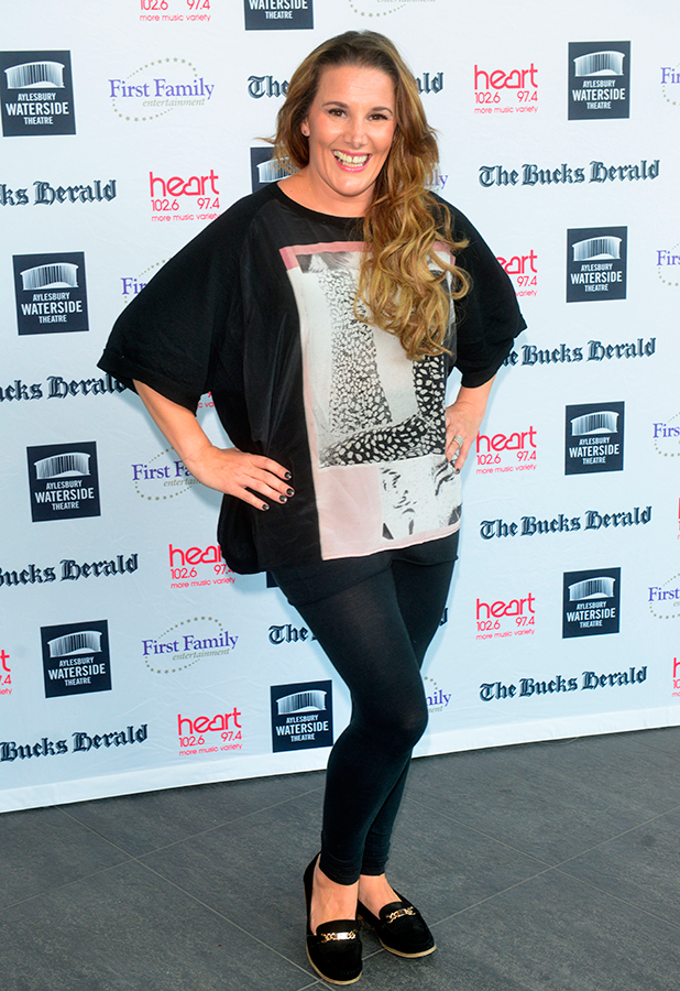 Sam Bailey, Dick Whittington Panto launch at the Aylesbury Waterside Theatre 14th Sept 2015