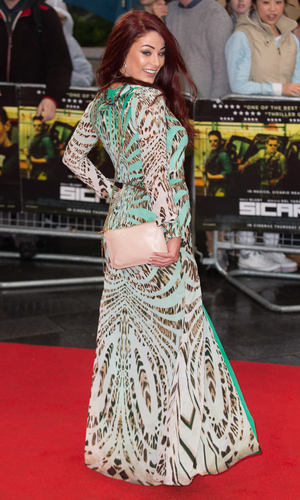 Jessica Hayes attends the UK Premiere of 'Sicario' at Empire Leicester Square on September 21, 2015 in London, England.