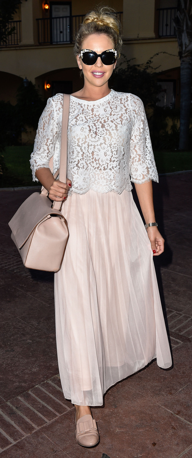 TOWIE's Lydia Rose Bright at Olivias La Cala restaurant in Marbella, 24th September 2015