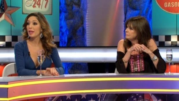 Vicki Michelle, Farrah Abraham on Celebrity Big Brother's Bit On The Side - 22 September 2015.