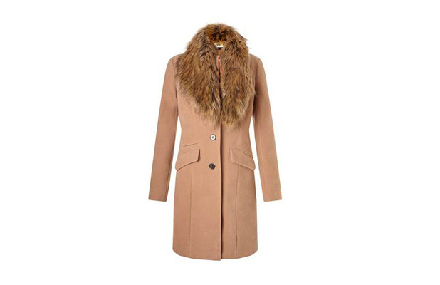 Fleur East Faux Fur Stole Coat £95, 22nd September 2015
