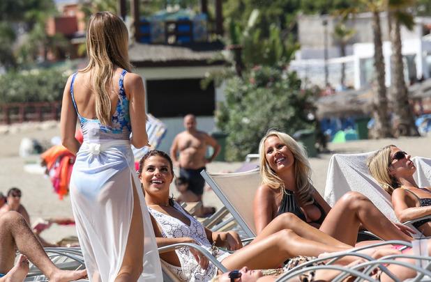 Chloe Lewis, Lauren Pope and Kate Wright, Plaza Beach Marbella 23 September