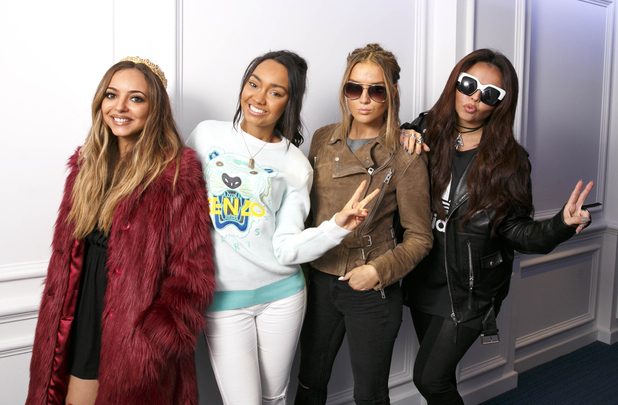 Perrie Edwards, Jesy Nelson, Leigh Anne Pinnock, Jade Thirlwall, Little Mix visit KISS fm radio, 24th September 2015