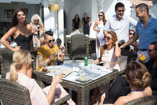 TOWIE cast film in Marbella - 24 September 2015.