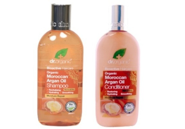 Dr Organic Moroccan Argan Oil Shampoo and Conditioner, £5.99 each from Holland & Barrett