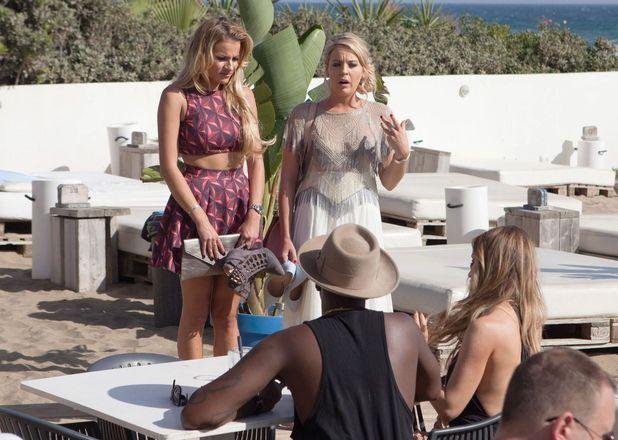 TOWIE Cast - Lauren Pope, Vas J Morgan, Lydia Bright, George Kousoulou - filming in Marbella, Spain - 22 Sep 2015