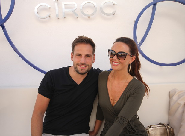 Jennifer Metcalfe and boyfriend Greg Lake pictured at Ocean Beach Ibiza, 24th September 2015