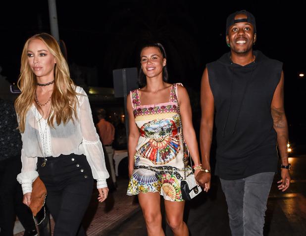 TOWIE's Lauren Pope, Vas J Morgan, Verity Chapman leave La Sala in Puerto Banus - 22 September 2015.