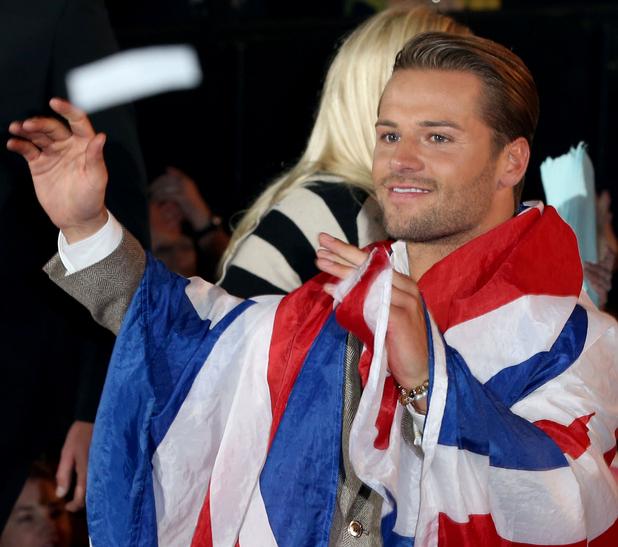 Celebrity Big Brother winner James Hill at the live final. 24 September 2015.