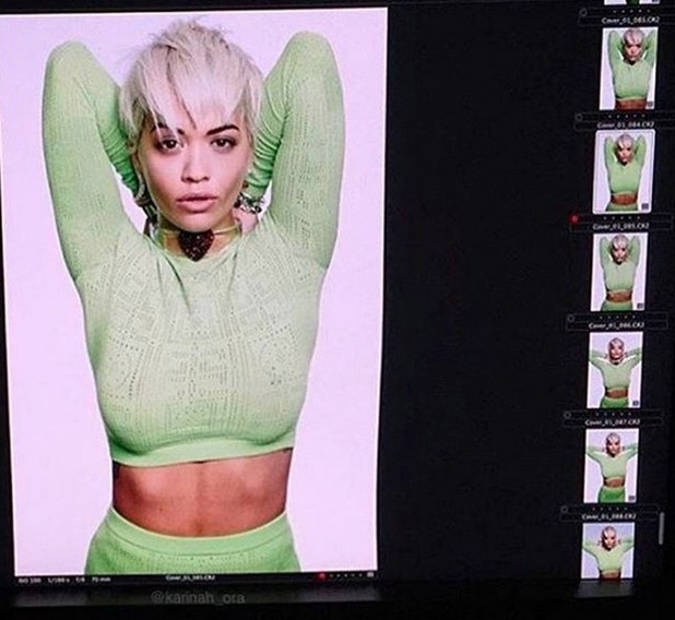 Rita Ora shares snaps from her Elle Canada shoot, 24th September 2015