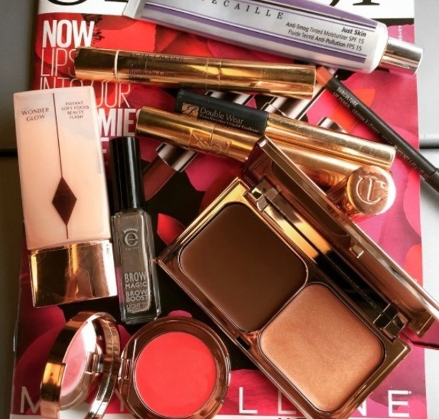 Millie Mackintosh shares picture of beauty essentials, 24th September 2015