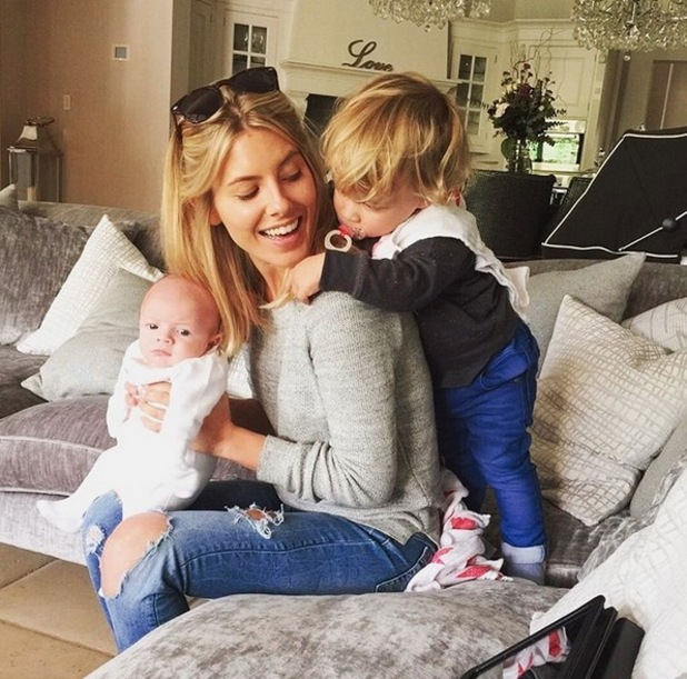 Mollie King with Frankie Bridge's sons Parker and Carter 23 September
