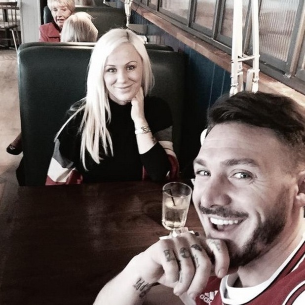 Kirk Norcross and fiancee Holly Willis 21 September