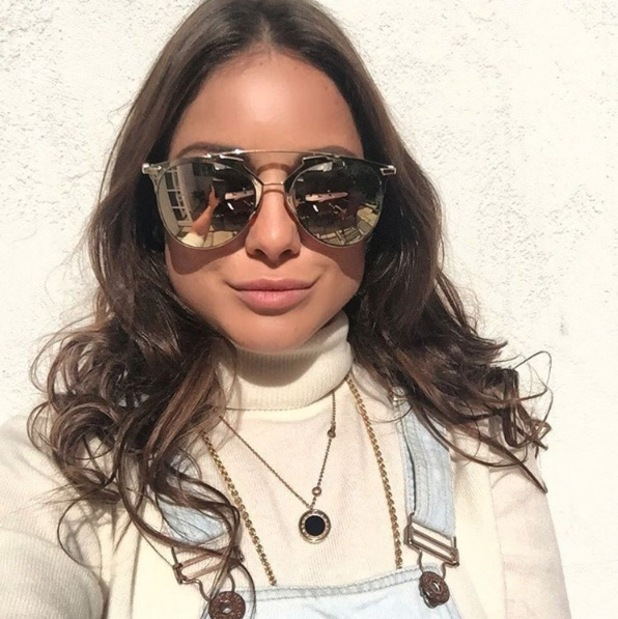 Made in Chelsea's Louise Thompson takes to Instagram to share a selfie at Oreo UK launch, 25th September 2015
