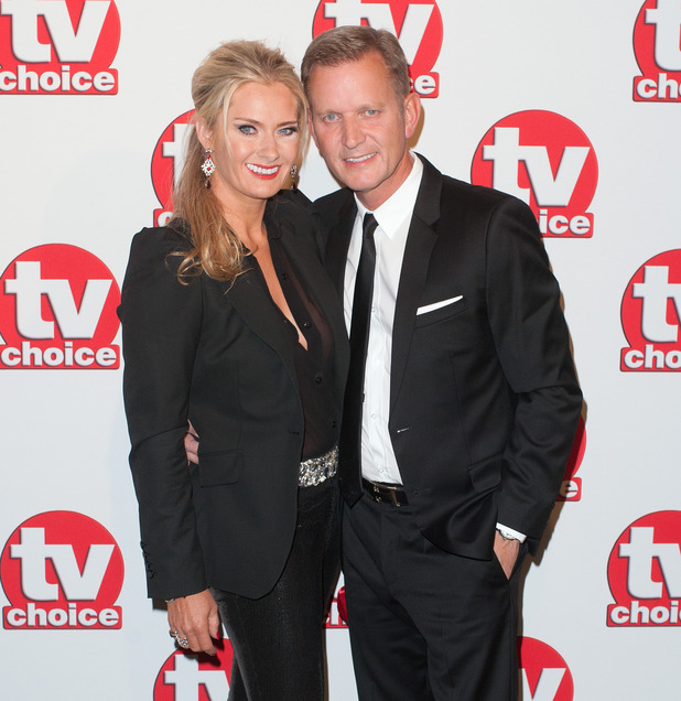 Jeremy Kyle and Carla Germaine at the TV Choice Awards held at the London Hilton Park Lane - Arrivals - 09/08/2014.