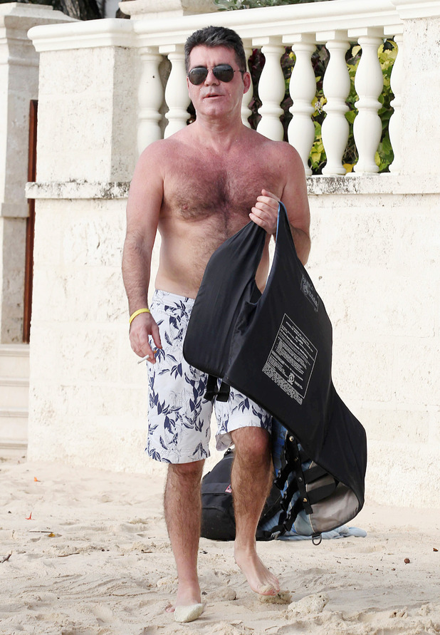 Simon Cowell on holiday in Barbados - 28 Dec 2014.