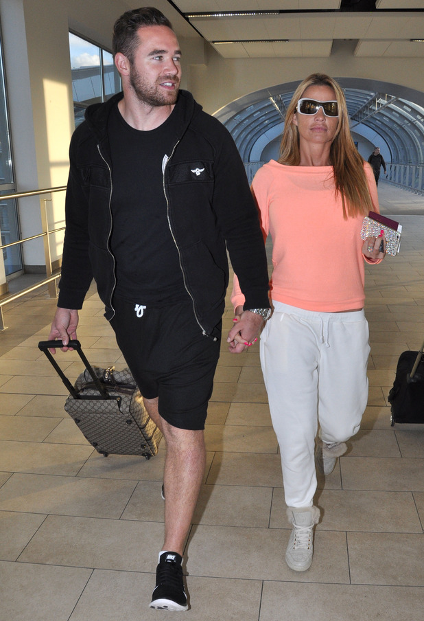 Katie Price and Kieran Hayer at Dublin Airport 24 September