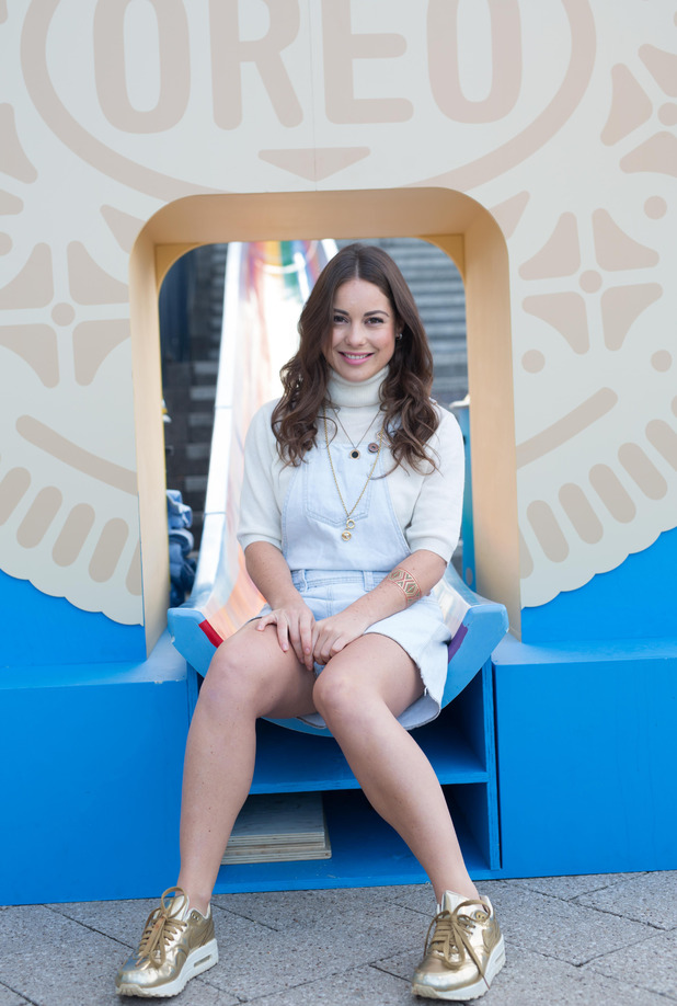 MIC's Louise Thompson at the olden Oreo Slide event, 25th September 2015