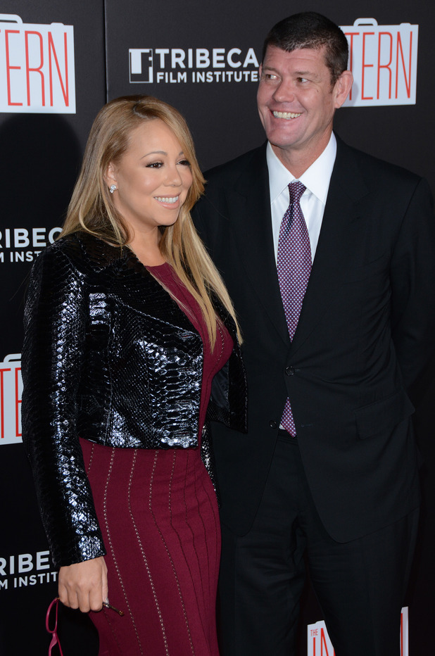 "Mariah Carey and James Packer at The Intern"" New York Premiere - Red Carpet Arrivals - 21 September 2015."