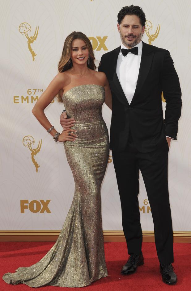Sofia Vergara and Joe Manganiello at the 67th Annual Primetime Emmy Awards 2015, 21st September 2015