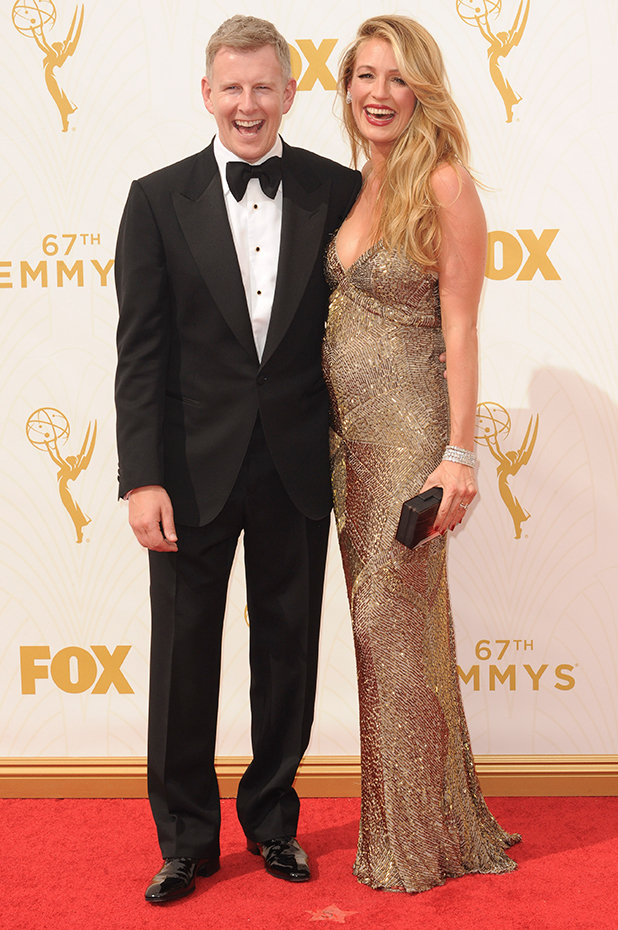 The 67th Emmy Awards arrivals Cat Deeley and Patrick Kielty