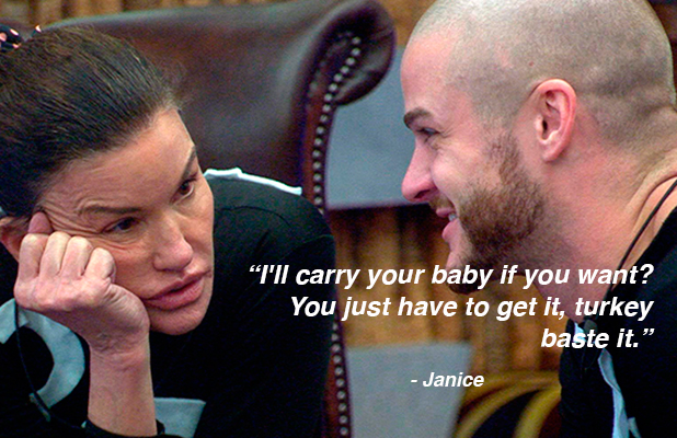 CBB: Day 14 grabs: Janice offers to carry Austin's child