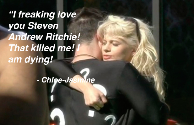 CBB: Chloe-Jasmine thrilled her task is over and she can kiss Stevi again