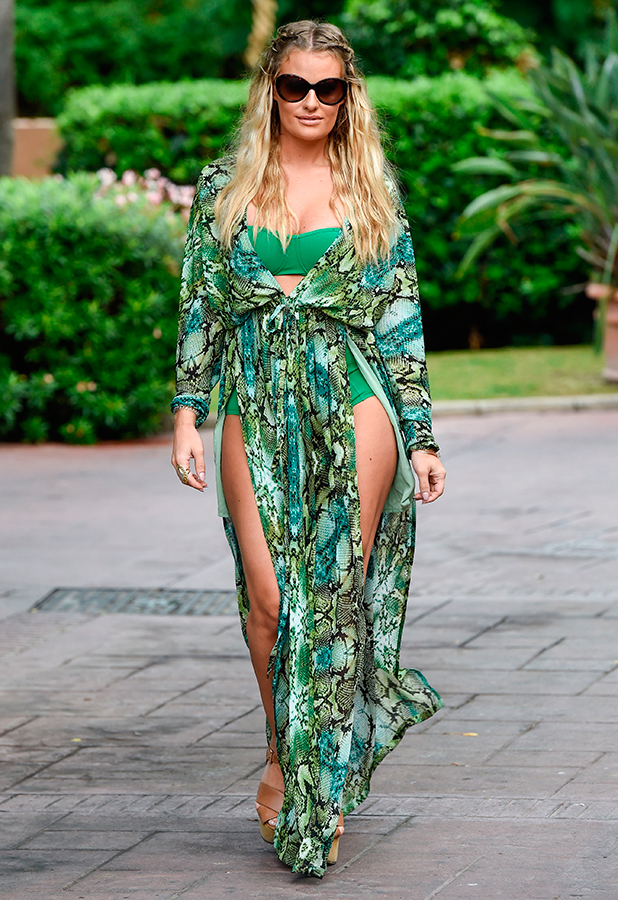 """TOWIE stars head out from their hotel for filming in Marbella for """"The Only Way Is Marbs"""" Danielle Armstrong"""