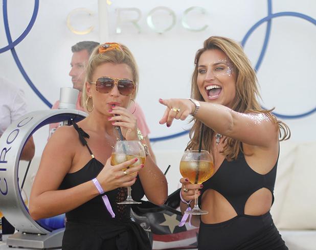 Ocean Beach Ibiza: Ferne McCann and Billie Faiers 2015