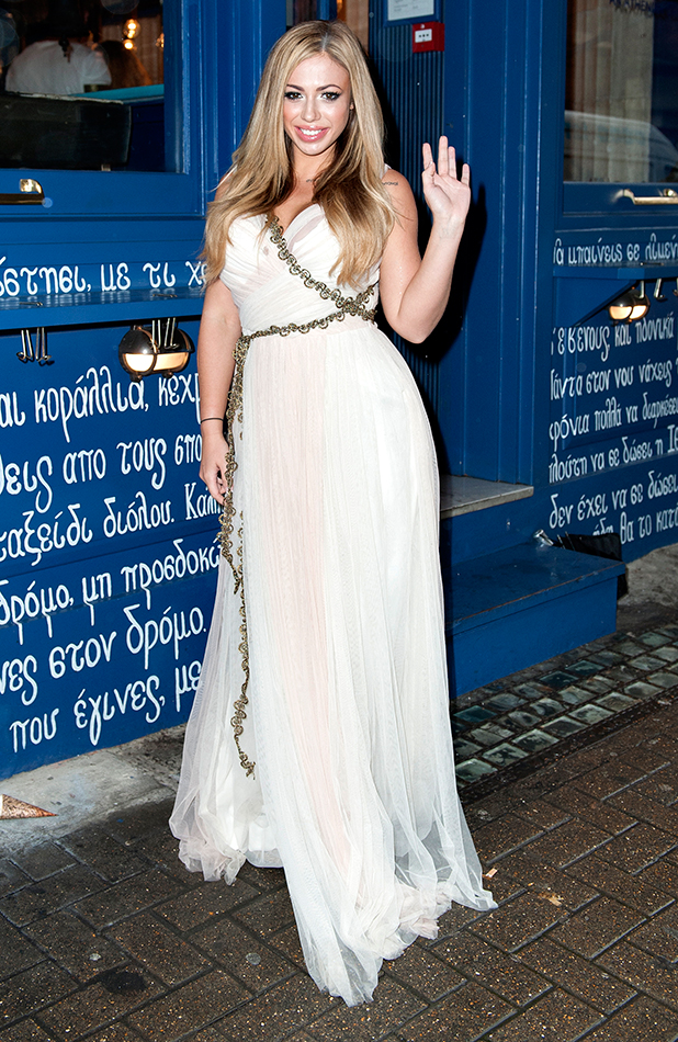 Geordie Shore stars Hit Soho in Full Greek gear to celebrate new MTV series. Holly Hagan