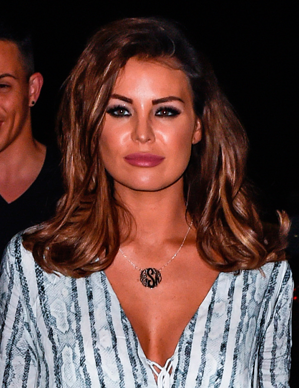 TOWIE stars at Olivia's La Cala restaurant in Marbella. The restaurant is owned by TOWIE star Elliott Wright. Jessica Wright