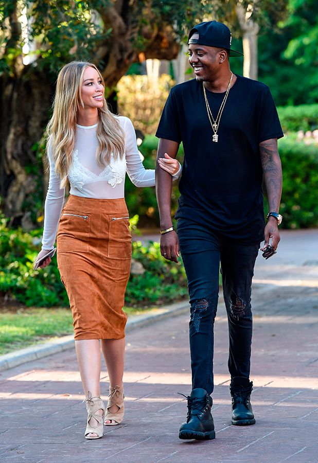 """Lauren Pope and Vas Morgan step out in Marbella after a days filming """"The Only Way Is Marbs"""""""