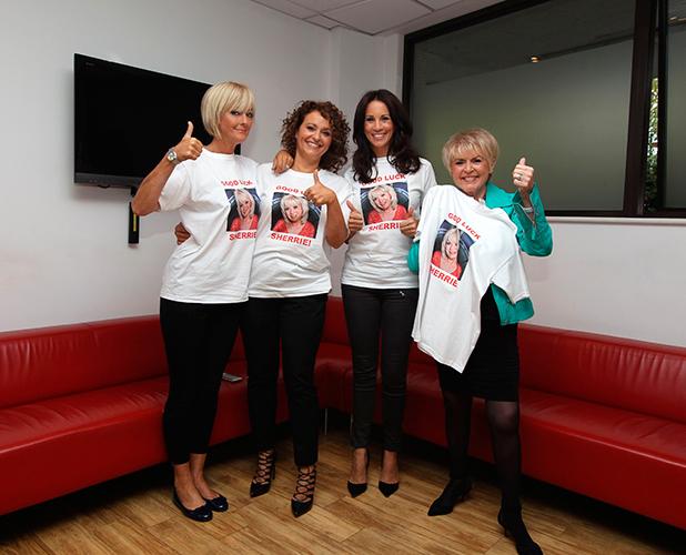 'Loose Women' TV Programme, London, Britain. - 24 Sep 2015 Jane Moore, Nadia Sawalha, Andrea McLean and Gloria Hunniford