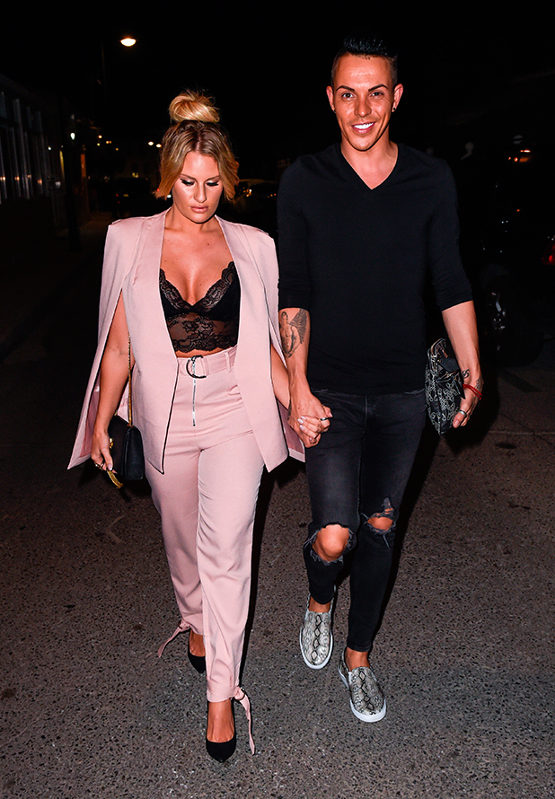 TOWIE stars at Olivia's La Cala restaurant in Marbella. The restaurant is owned by TOWIE star Elliott Wright. Danielle Armstrong and Bobby Norris