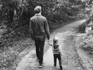 Tom Fletcher with his son, Buzz from Instagram September