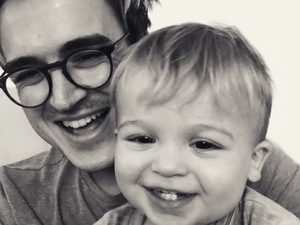 Tom Fletcher and his son Buzz, September Instagram pic