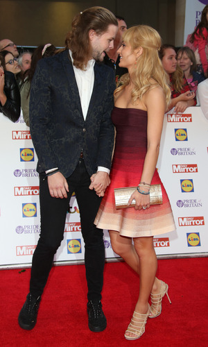 Strictly Come Dancing stars Jay McGuiness and Aliona Vilani at the Pride of Britain Awards 2015 held at Grosvenor House Hotel - 28 September 2015.