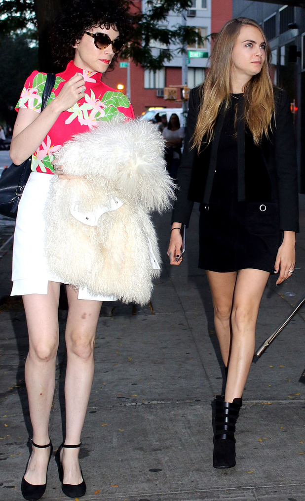 Cara Delevingne and girlfriend St. Vincent in New York City, 29th September 2015
