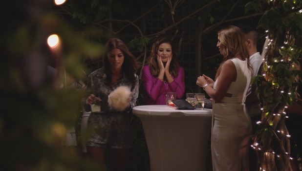 Chloe Lewis and Ferne McCann argue on TOWIE, 4 October 2015