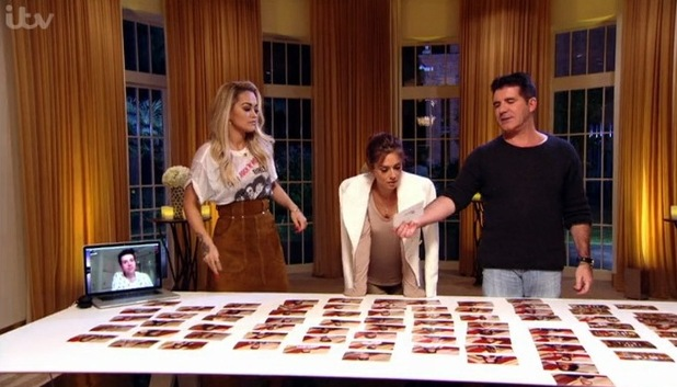 The X Factor judges decide the fate of contestants at Bootcamp with Nick Grimshaw making decisions via video call - Sunday 27 September 2015.