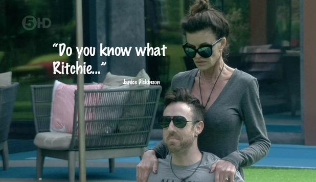 Celebrity Big Brother - Janice gives Stevi a massage. September 2015.