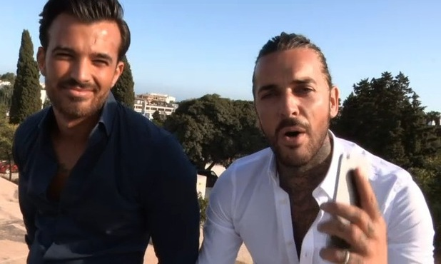 TOWIE's Michael Hassini and Pete Wicks in new TOWIE video - 29 September 2015.