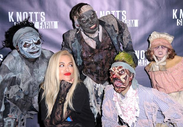 Rita Ora attends Knott's Scary Farm Black Carpet event in California, 2nd October 2015