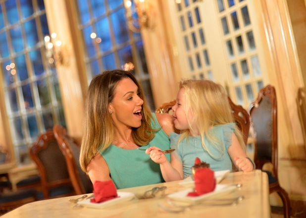 Celebrity mum Michelle Heaton accompanied by her three year old daughter Faith visited Walt Disney World to celebrate its 2016 Free Dine offer, September 2015