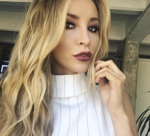 Lauren Pope rocks gorgeous autumnal berry lips thanks to make-up artist Katie Bishop, 1 October 2015