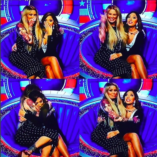 Farrah Abraham and Jenna Jameson on CBB, 3 October 2015.